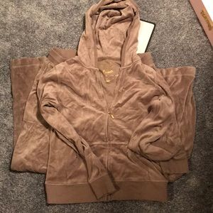 Victoria's Secret Taupe/Brown Velour J Lo Suit